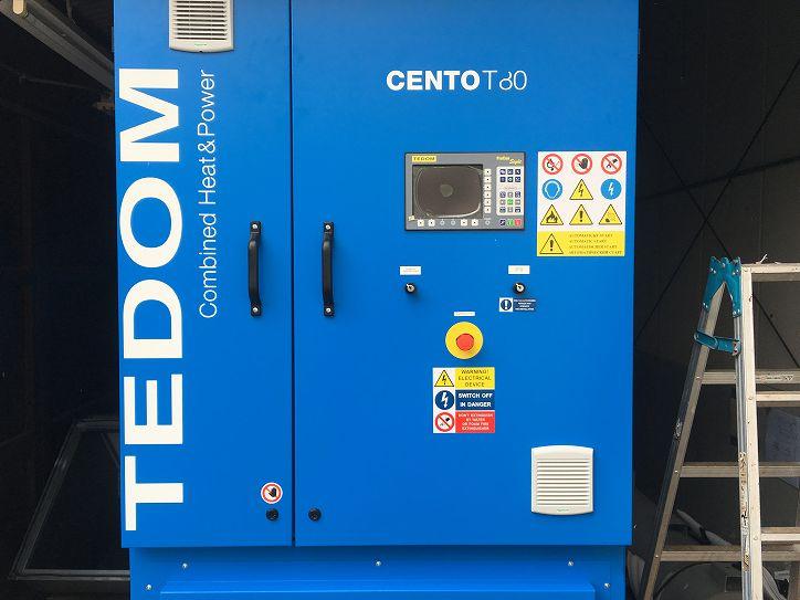 TEDOM ガスコージェネレーション デモ機